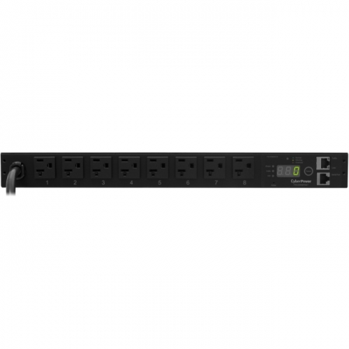 CyberPower Monitored PDU RM 1U PDU20M8FNET 20A 8-Outlet