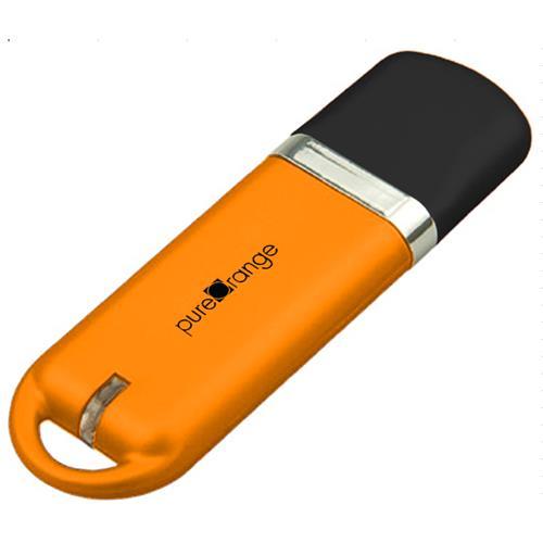 PureOrange Orange 16GB USB Flash Drive Memory Stick