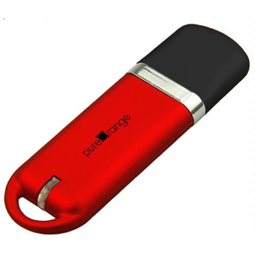 PureOrange Red 32GB USB Flash Drive Memory Stick