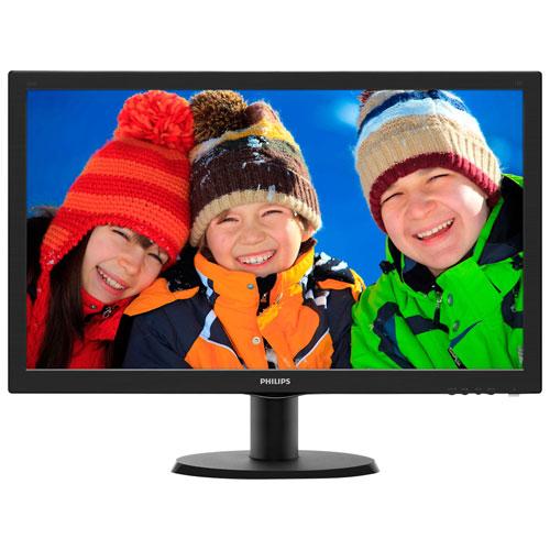 """Philips 24"""" 1080p FHD 60Hz 1ms GTG LED Gaming Monitor (243V5LHSB) - Black"""