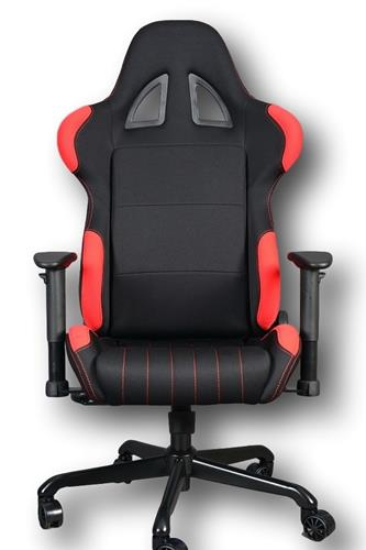 ViscoLogic Series BOXTER Gaming Racing Style Swivel Office Chair (Black & Red)