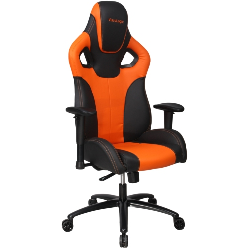 Remarkable Viscologic Mustange Racing Gaming Chair Orange N Black Ncnpc Chair Design For Home Ncnpcorg