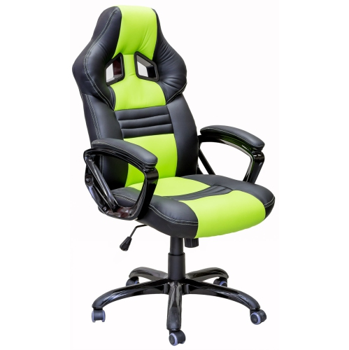 ViscoLogic Series YARIS Gaming Racing Style Swivel Home Office Chair YS-8706 (Black & Green)