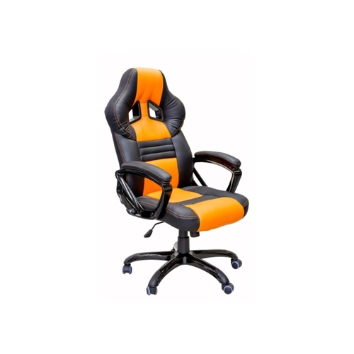ViscoLogic Series YARIS Gaming Racing Style Swivel Home Office Chair YS-8706 (Black & Orange)