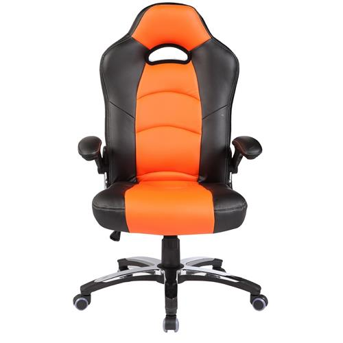 ViscoLogic Series LANCER Gaming Racing Style Swivel Office Chair YS-8703 BO (Black & Orange)