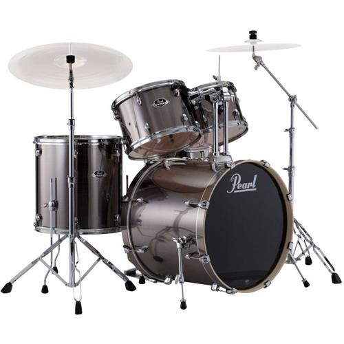 Pearl Export EXX Drum Kit with Hardware - 22/12/13/16/14, Smokey Chrome