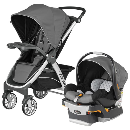 Chicco Bravo Orion Standard Stroller with Keyfit 30 Infant Car Seat - Grey/Black