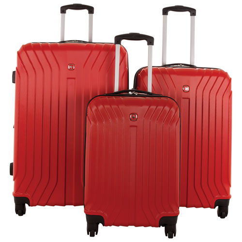 Swiss Gear Tannensee 3-Piece Hard Side 4-Wheeled Expandable Luggage Set - Chili