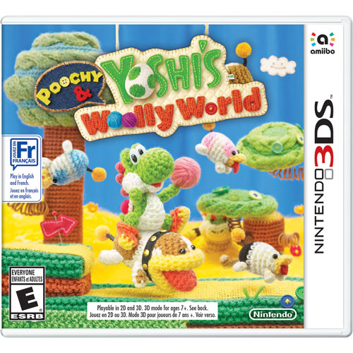 Poochy & Yoshi's Woolly World (3DS) - English/French/Spanish