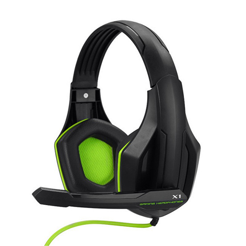 Ovann X1 Super Bass Over-ear Gaming Headset & Microphone for PC computer_Green