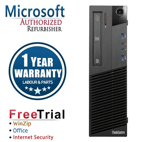 LENOVO THINKCENTRE M83 SFF Intel Core i5-4570 3.2 Ghz ,8 GB DDR3 ,1 TB ,DVD-ROM,Win10 Pro ,1 Year Warranty-Refurbished