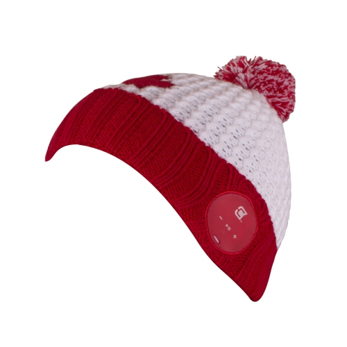 Wireless Bluetooth 4.2 Toque Dual Layered Unisex Warm Winter Hat with  Stereo Sound Headphone   Mic - Canada Maple Leaf - Online Only 4012eb32a3a