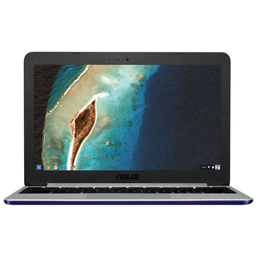 Chromebook de 11,6 po C201 d'ASUS - Bleu marine (Rockchip RK3288/EMMC 16 Go/RAM 2 Go/Chrome)