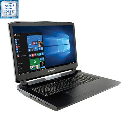 Port. jeu Sky X7E2 17,3 po EUROCOM - Noir (Core i7-6700k Intel/DD 1 To/SSD M.2 120 Go/RAM 16 Go) Ang