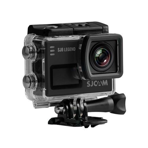 Official SJCAM SJ6 Legend WiFi Action Camera (Black), 2K 1080P, 30M Waterproof, Touchscreen, Metal Body, Gyro Stabilization