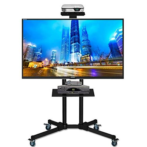 DURAMEX (TM) Universal Mobile TV Cart TV Stand with Mount for 40 - 65 inch LED, LCD, Plasma, and Curved Displays up to 110 lbs