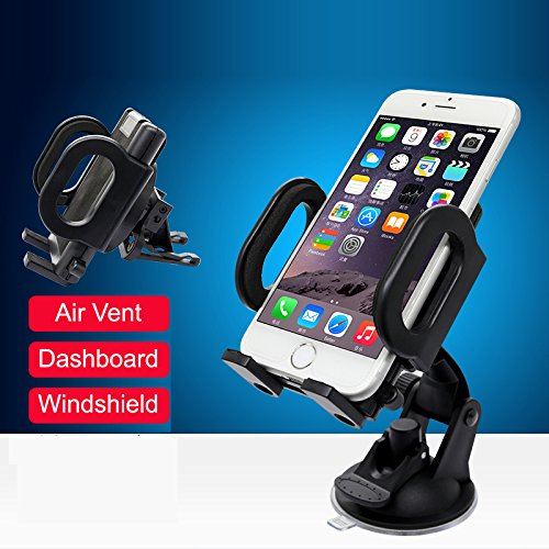 MIIU (TM) Windshield / Dashboard Air Vent Mount Car Smartphone Holder Cradle for iPhone, Samsung Galaxy, Note, Nexus and more