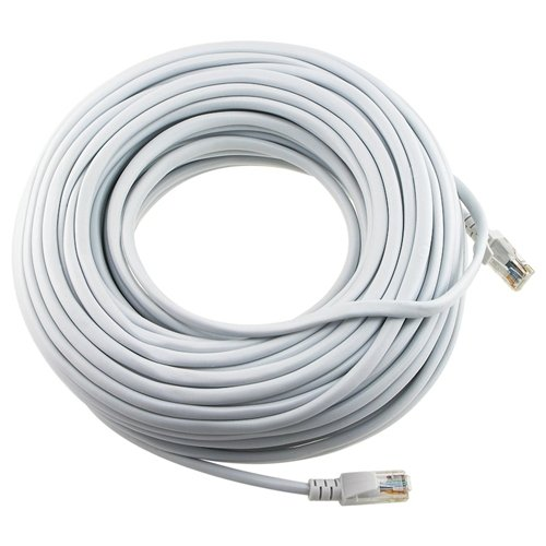 Ethernet Cable, CAT5e - 100 ft White (LAN hardware) EIA568 Patch Cable, RJ45 / RJ45 100' White for 10 Base-T, 100 Base-T