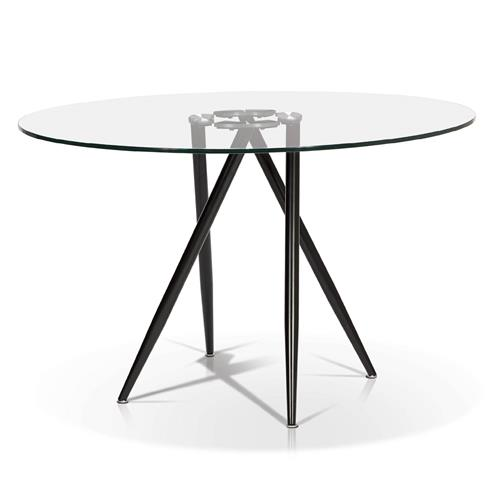 sale retailer a8901 3b342 Round Glass Top Dining Table