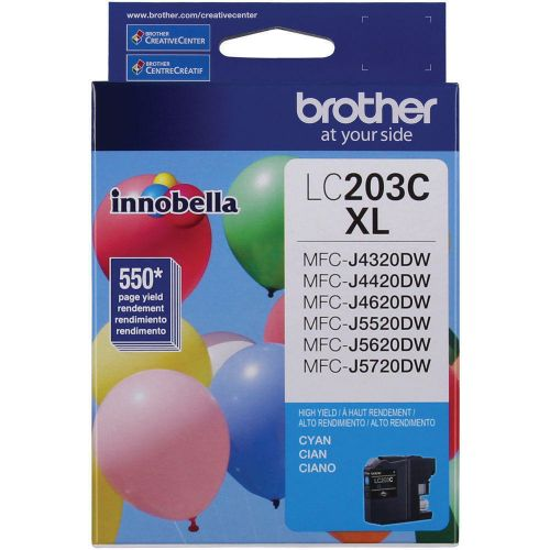 Brother Ink Cartridge High Yield, Cyan - 2 Pack