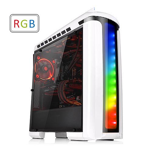 Thermaltake VERSA C22 RGB SNOW with Window Black ATX Case (CA-1G9-00M6WN)