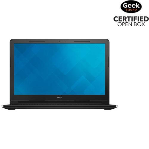 Inspiron 3000 15,6 po de Dell - Noir (Pentium N3700 d'Intel/DD 500 Go/RAM 4 Go/Win 10) - Bte ouverte