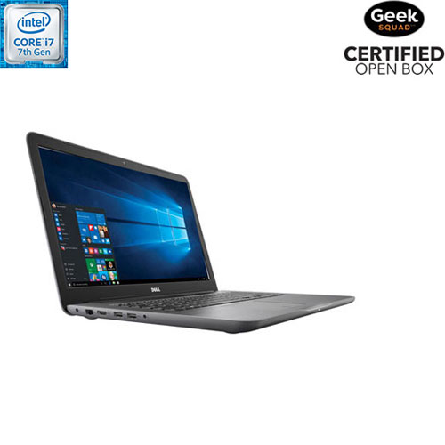 Inspiron 17,3 po de Dell - Nuit (Core i7-7500U d'Intel/DD 1 To/RAM 8 Go/Windows 10) - Boîte ouverte