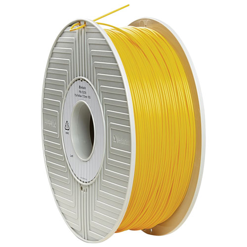 Verbatim 1.75mm Yellow PLA Filament - 1 Pack (55256)