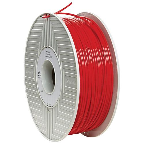 Verbatim 3mm Red PLA Filament - 1 Pack (55262)