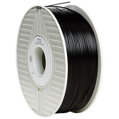 Filament de plastique ABS noir de 1,75 mm de Verbatim - Paquet de 1 (55000)