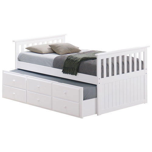 Marco Island Contemporary Kids Pull Out Trundle Bed