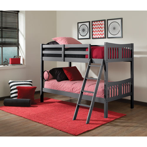 Storkcraft Caribou Kids Bunk Bed Twin Grey Kids Beds Best