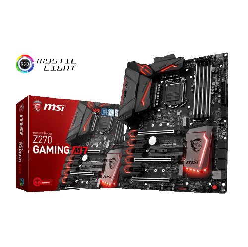 MSI Z270 GAMING M7 LGA 1151 Intel Z270 USB 3.1 Gen 2 RGB Dual Gaming LAN ATX Motherboard