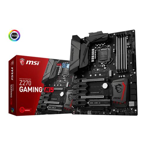 MSI Z270 GAMING M5 LGA 1151 Intel Z270 USB 3.1 Gen 2 RGB Dual Gaming LAN ATX Motherboard
