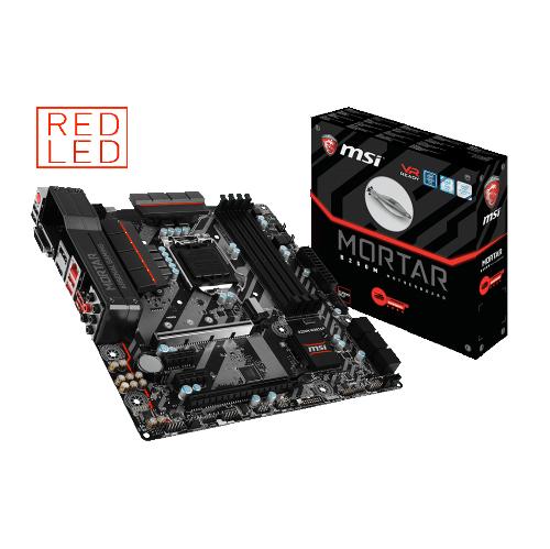 MSI B250M MORTAR LGA 1151 Intel B250 USB 3.1 Red LED Micro ATX Motherboard
