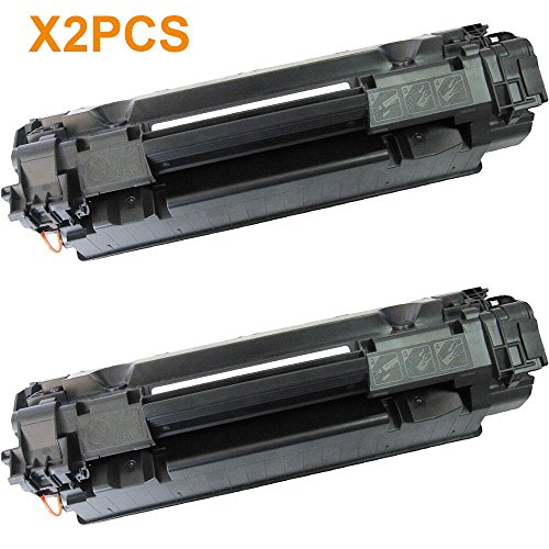 AceToner (TM) 2PCS HP 85A CE285A HP85A Black BK 285A 85 Compatible Laser Toner Cartridge For HP LaserJet Pro M1210, M1212nf, M