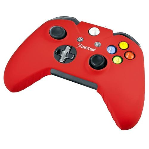 Insten For Microsoft Xbox One Red Gel Rubber Case