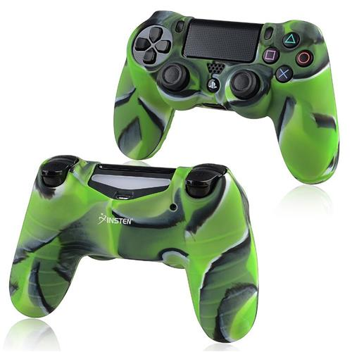 Insten For Sony PlayStation 4 Colorful Green Skin Rubber Case