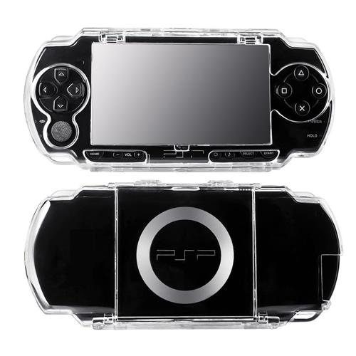 Insten For Sony PSP 1000 series Clear Hard Rubberized Case Cover