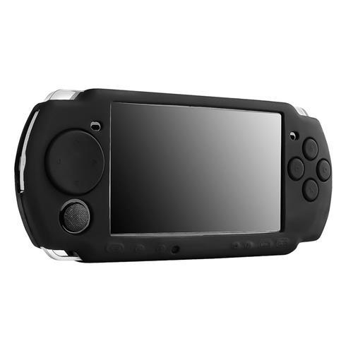 Insten For Sony PSP 3000 Series/PSP slim 2000 series Black Silicone Rubber Case