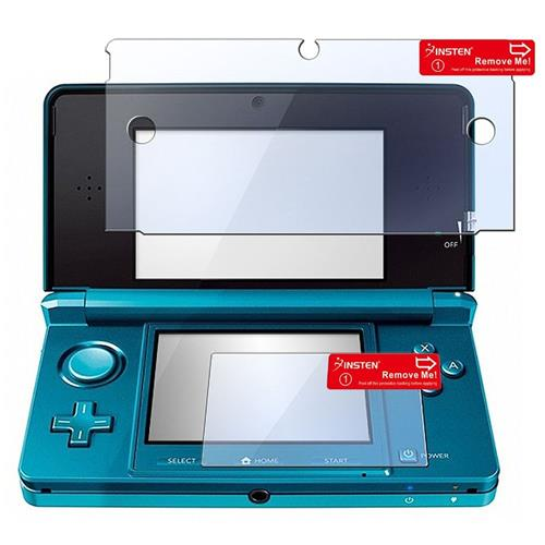 Insten Clear LCD Screen Protector Film Cover For Nintendo 3DS