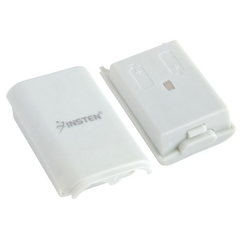 Insten Wireless Controller Battery Pack Shell compatible with Microsoft Xbox 360, White