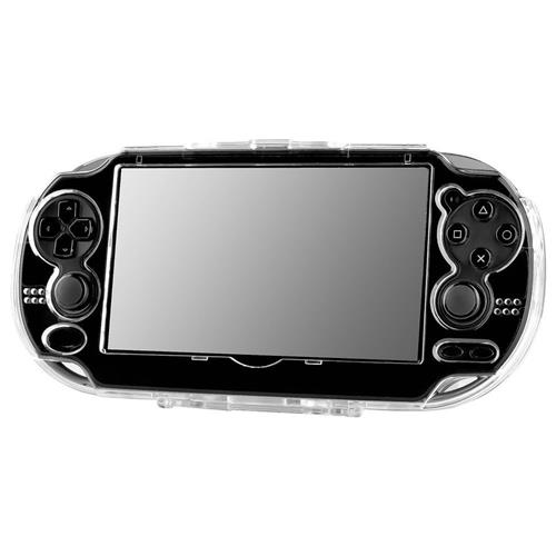 Insten For Sony PlayStation Vita PCH-1000 Clear Hard Rubberized Case Cover