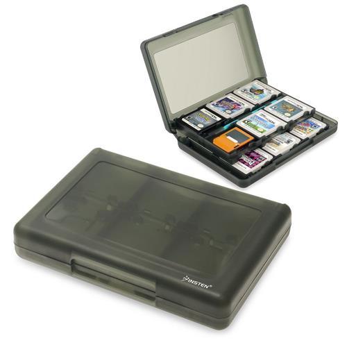 Insten 28-in-1 Game Card Case For Nintendo NEW 3DS / 3DS / DSi / DSi XL / DSi LL / DS / DS Lite, Smoke