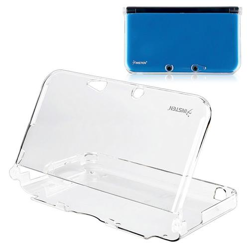 Insten For Nintendo 3DS XL Clear Hard Rubber Case Cover