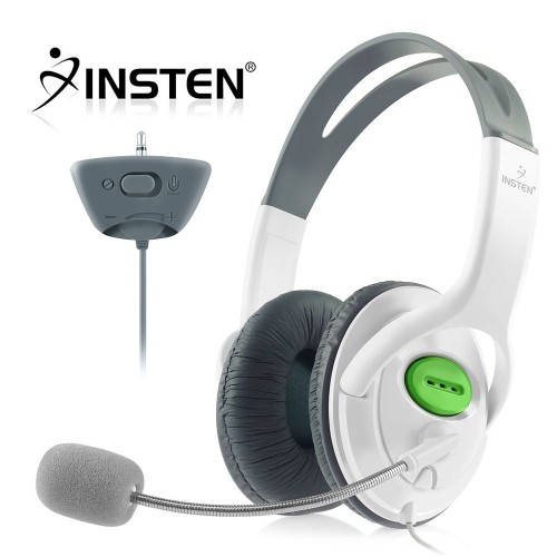 Insten Headset w/ Mic compatible with Microsoft Xbox 360 / Xbox 360 Slim