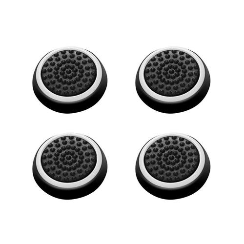 Insten 4-piece Set Controller Analog Thumbstick Cap, Black/White
