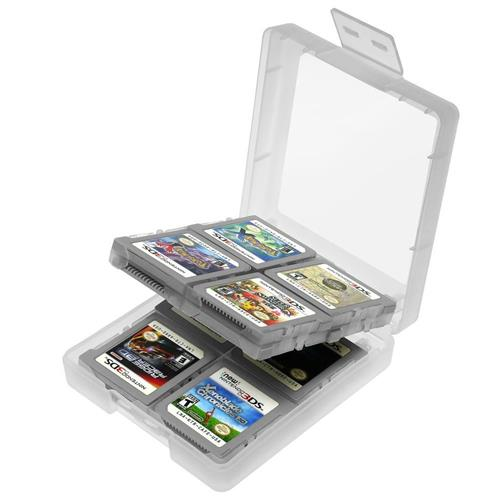 Game Card Case compatible with Nintendo NEW 3DS / 3DS / DS / DS Lite / DSi / DSi LL / XL, White