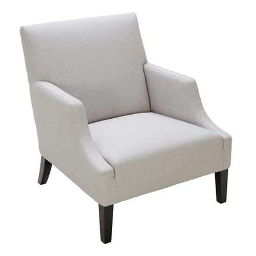 ArmChair in Silver Linen Fabric