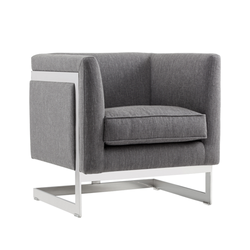 T-Framed Fabric Armchair
